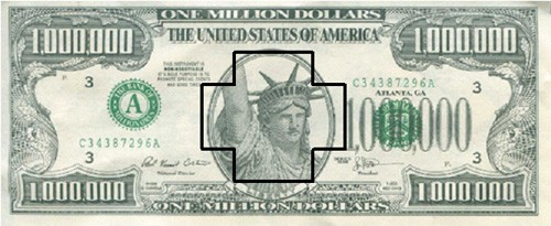 million with plus sign