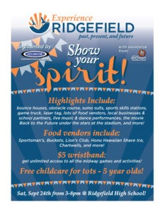 Join us in celebrating Ridgefield's proud past, prosperous present, and promising future.
