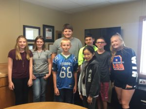Members of the Superintendent's Student Advisory Council