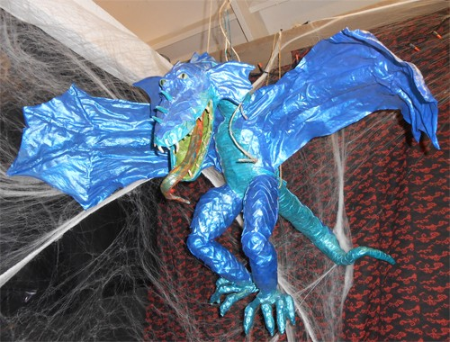 Every haunted house needs a resident flying dragon!